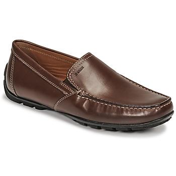 鞋子 男士 皮便鞋 Geox 健樂士 MONET 棕色