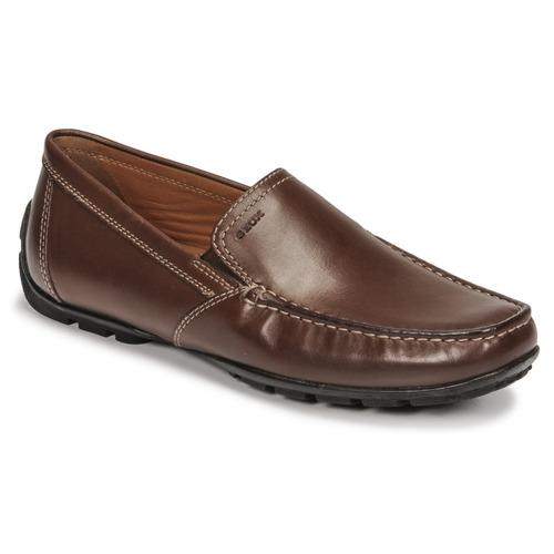 鞋子 男士 皮便鞋 Geox 健乐士 MONET 棕色