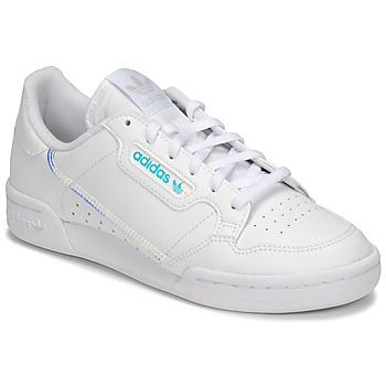 鞋子 儿童 球鞋基本款 Adidas Originals 阿迪达斯三叶草 CONTINENTAL 80 J 白色
