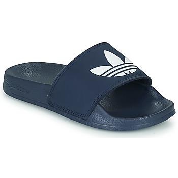 鞋子 儿童 球鞋基本款 Adidas Originals 阿迪达斯三叶草 ADILETTE LITE J 海蓝色 / 白色