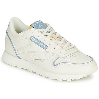 鞋子 球鞋基本款 Reebok Classic CL LTHR 白色