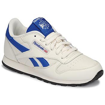 鞋子 儿童 球鞋基本款 Reebok Classic CLASSIC LEATHER 白色 / 蓝色