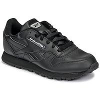 鞋子 儿童 球鞋基本款 Reebok Classic CLASSIC LEATHER 黑色