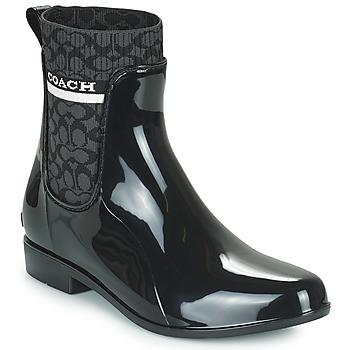鞋子 女士 雨靴 Coach RIVINGTON RAIN BOOTIE 黑色