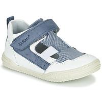 鞋子 男孩 凉鞋 Kickers JASON 白色 / 蓝色