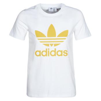 衣服 女士 短袖体恤 Adidas Originals 阿迪达斯三叶草 TREFOIL TEE 白色