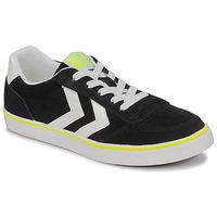 鞋子 儿童 球鞋基本款 Hummel STADIL 3.0 JR 黑色 / 白色