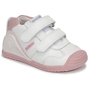 鞋子 女孩 球鞋基本款 Biomecanics BIOGATEO SPORT 白色 / 玫瑰色