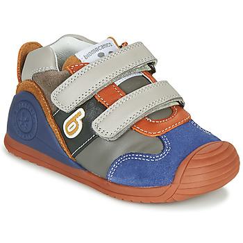 鞋子 男孩 球鞋基本款 Biomecanics ZAPATO SPORT VELCRO 灰色 / 蓝色 / 橙色