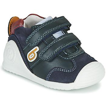 鞋子 男孩 球鞋基本款 Biomecanics ZAPATO SPORT VELCRO 海蓝色