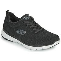 鞋子 女士 训练鞋 Skechers 斯凯奇 FLEX APPEAL 3.0 PLUSH JOY 黑色