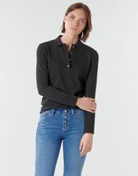 衣服 女士 长袖保罗衫 Lacoste PF5464 黑色