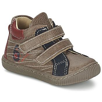 鞋子 男孩 高帮鞋 Citrouille et Compagnie THEO 灰褐色