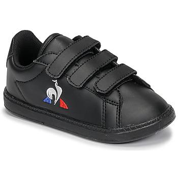 鞋子 儿童 球鞋基本款 Le Coq Sportif 乐卡克 COURTSET INF 黑色