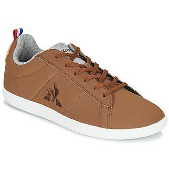 鞋子 球鞋基本款 Le Coq Sportif 乐卡克 COURTCLASSIC GS 棕色