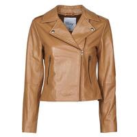 衣服 女士 皮夹克/ 人造皮革夹克 Betty London NROCK 棕色