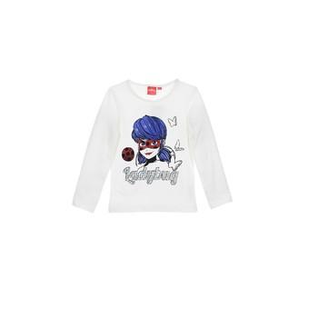 衣服 女孩 长袖T恤 TEAM HEROES KIDS MIRACULOUS LADYBUG 白色