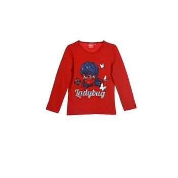 衣服 女孩 长袖T恤 TEAM HEROES KIDS MIRACULOUS LADYBUG 红色