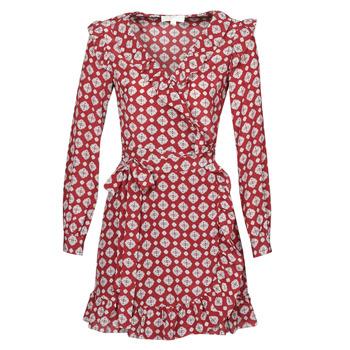 衣服 女士 短裙 Michael by Michael Kors LUX PINDOT WRAP DRS 波尔多红