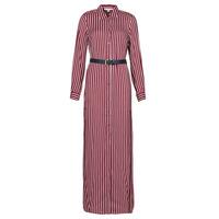 衣服 女士 长裙 Michael by Michael Kors WARM PLAYFL SHIRT DR 波尔多红 / 白色 / 海蓝色