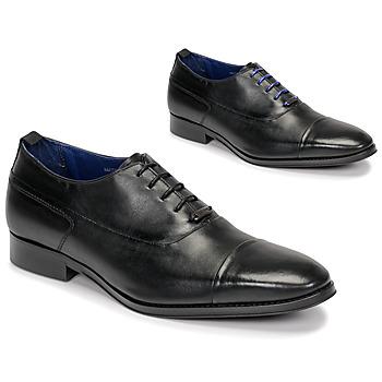 鞋子 男士 系带短筒靴 Azzaro 阿莎露 LITCHI 黑色
