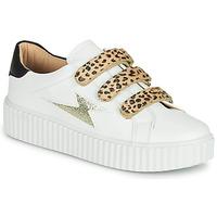 鞋子 女士 球鞋基本款 Vanessa Wu BASKETS À SCRATCHS ANIMALIER 白色 / Leopard