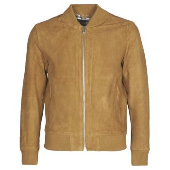 衣服 男士 皮夹克/ 人造皮革夹克 Selected 思莱德 SLHBROKE 棕色