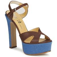 鞋子 女士 凉鞋 Keyté CUBA-LUX-MARRONE-FLY-9 棕色