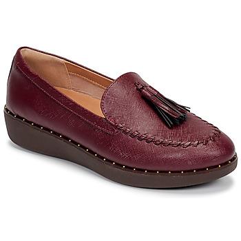 鞋子 女士 皮便鞋 FitFlop PETRINA PATENT LOAFERS 红色