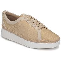 鞋子 女士 球鞋基本款 FitFlop RALLY BASKET WEAVE SNEAKERS 米色