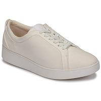 鞋子 女士 球鞋基本款 FitFlop RALLY DENIM 白色