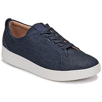 鞋子 女士 球鞋基本款 FitFlop RALLY DENIM 蓝色