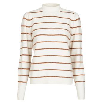 衣服 女士 羊毛衫 Vero Moda VMCORNELIAPUFF 白色 / 棕色
