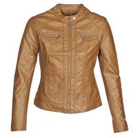 衣服 女士 皮夹克/ 人造皮革夹克 Only ONLBANDIT 棕色