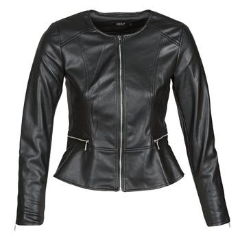 衣服 女士 皮夹克/ 人造皮革夹克 Only ONLJENNY 黑色