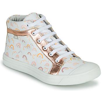 鞋子 女孩 高帮鞋 GBB LEOZIA 白色 / 玫瑰色