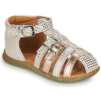 鞋子 女孩 凉鞋 GBB PERLE 白色 / 玫瑰色 / 金色