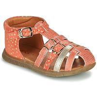 鞋子 女孩 凉鞋 GBB PERLE 珊瑚色 / 金色