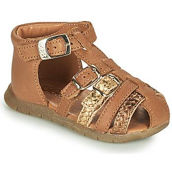 鞋子 女孩 凉鞋 GBB PERLE 棕色