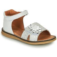 鞋子 女孩 凉鞋 GBB SATIA 白色 / 银灰色