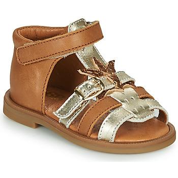 鞋子 女孩 凉鞋 GBB CARETTE 棕色