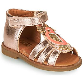 鞋子 女孩 凉鞋 GBB FRANIA 玫瑰色 / 金色
