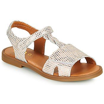 鞋子 女孩 凉鞋 GBB FARENA 白色 / 玫瑰色 / 金色