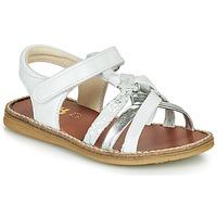 鞋子 女孩 凉鞋 GBB SUMY 白色 / 银灰色