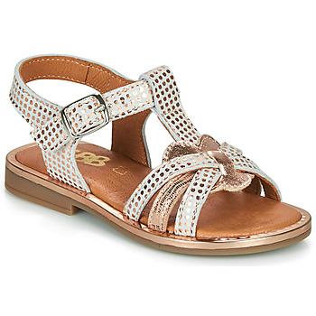 鞋子 女孩 凉鞋 GBB EGEA 白色 / 玫瑰色 / 金色