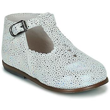 鞋子 女孩 平底鞋 Little Mary FLORIANE VTE MINI DOTS BLANC DPF/ODEON