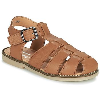 鞋子 男孩 凉鞋 Little Mary BREHAT 棕色