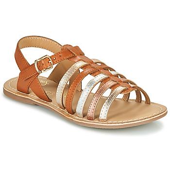 鞋子 女孩 凉鞋 Little Mary BARBADE 棕色 / 玫瑰色