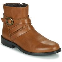 鞋子 女孩 短筒靴 Little Mary TIMOTHY 棕色