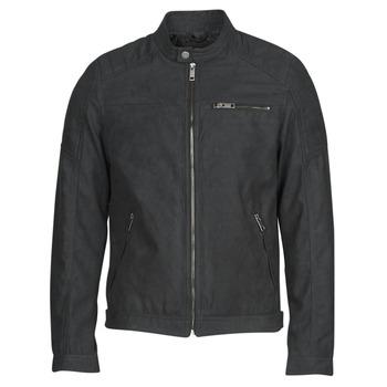 衣服 男士 皮夹克/ 人造皮革夹克 Jack & Jones 杰克琼斯 JJEROCKY 黑色